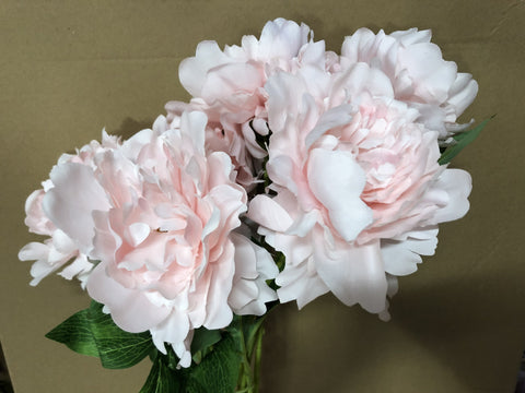 New 7 HEAD (Light pink)ARTIFICIAL PEONIES PEONY BUNCH