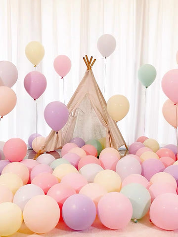 100 pcs Mix Pastel color single layer balloon baby shower