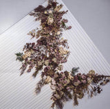 Purple chrysanthemums leaf Bunch for Wedding home decor greenery