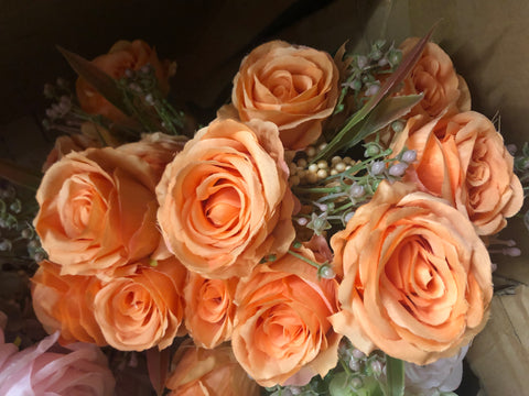 Orange ROSE BUNCH With fillers