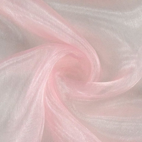 Organza material light pink
