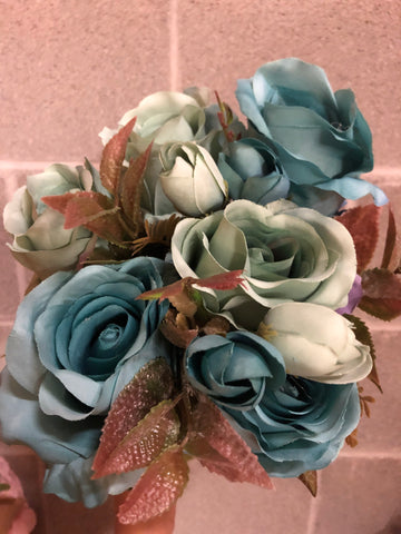 New fall color blue Roses Artificial Flower R182