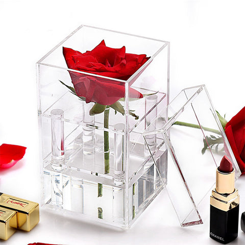 Large Single Rose Acrylic box For Flowers and gifts
