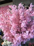 2 meter Tall Faux Cherry Blossom Tree (wide) with artificial flower pink - Richview Glass Wedding Supplies