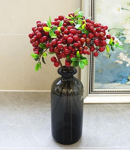 New red BERRY pick ARTIFICIAL FLOWER