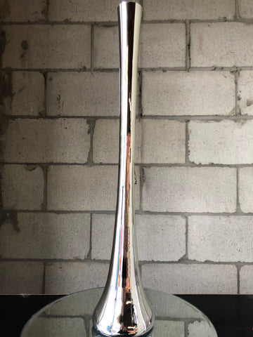 "24"" Silver Eiffel Tower Vase - Richview Glass Wedding Supplies"