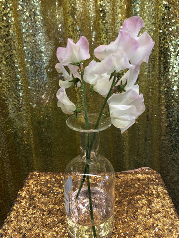 Lamp work Small bud Glass Vase long neck shape