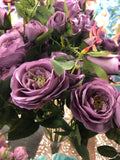Artificial Rose Spray Lilac Purple - Richview Glass Wedding Supplies