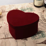 "5"" tall Burgundy Heart Shaped box centerpiece For Flowers"
