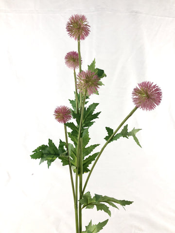 Dandelion fruit bud Purple Artificial Flower Single Stem - Viva La Rosa