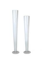 "Wedding 24"" White Pilsner/Cone/Trumpet Vase"