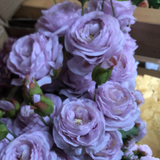 Lilac 2+1 rose spray lilac light purple Puffy Rose Spray artificial flower