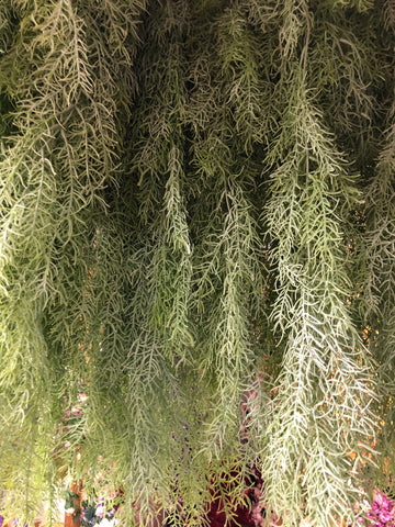 Silver Hanging Pine/Needle Greenery for Wedding home decor