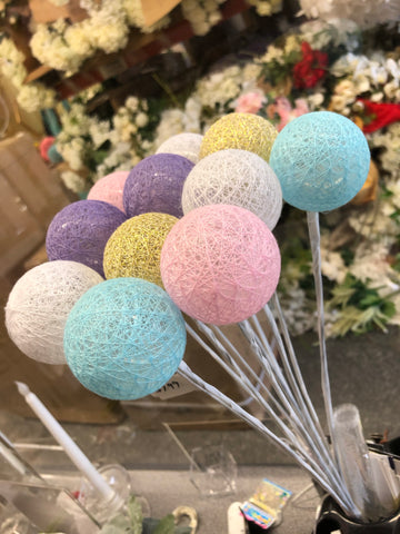 Mixed color LED Ball Light on a Stick 11 balls Bouquet decor