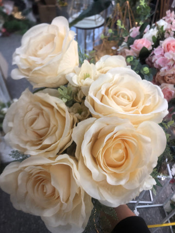 New Jumbo Rose Artificial Flower (champagne)