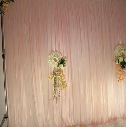 Blush/nude color Sheer chiffon fabric backdrop Panel 9.8 feetx9.8feet