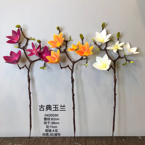 Artificial Flower Magnolia White bunch