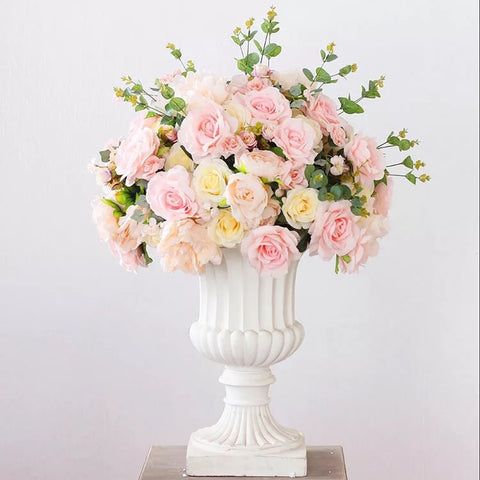 Xl blush Flower Rose Hydrangea Arrangement