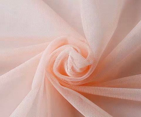 Blush pink tulle fabric 10 meter