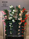 Pink rose Greenery Garland