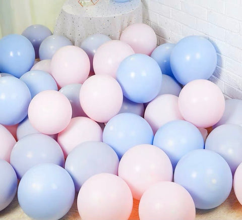 blue pink purple 100 pcs Mix Pastel color Double layer balloon baby shower