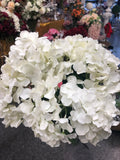 Artificial Flower Ivory/Cream Hydrangea Bunch 6 head silk - Richview Glass Wedding Supplies