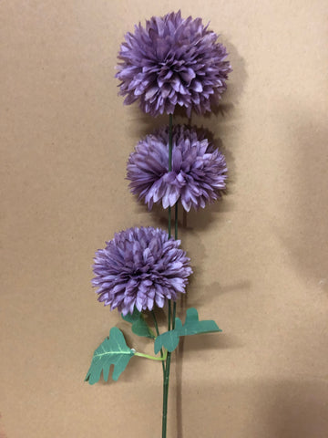 Dark purplePom Artificial Filler Flower