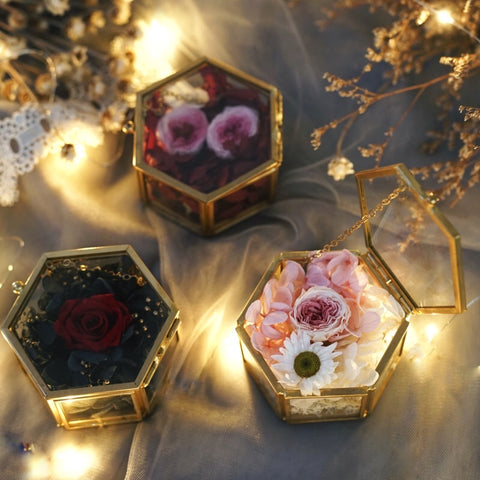 Geometric Hexagon Ring Box Jewelry Box (S) jewellery