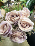 New lilac Roses with filler Artificial Flower