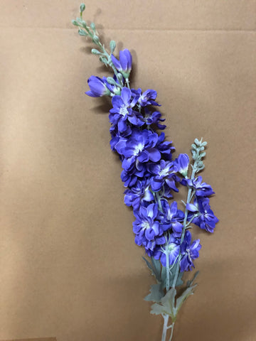 Purple Artificial Silk flower Delphinium