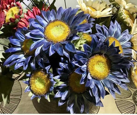 Sunflower Blue Bunch