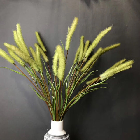 Green Bristle grass Artificial dog's tail filler