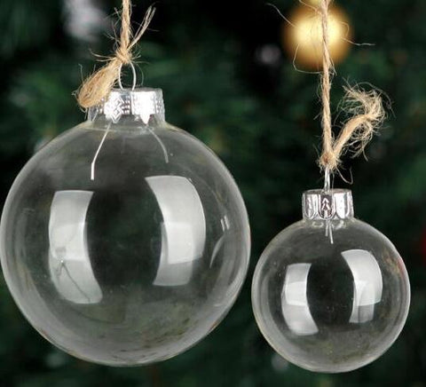 "Hanging Glass 3"" Round Christmas Ball for ornament diy"
