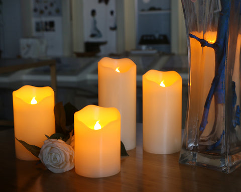 "LED Electric Flameless Candles wedding decor Canada 2""x4""H Diameter"