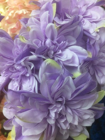 Artificial Silk artificial  Dahlia (lilac) -DHA4 - Richview Glass Wedding Supplies