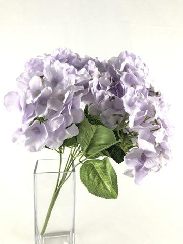 NEW Artificial Flower Lilac Hydrangea Bunch 7 head silk