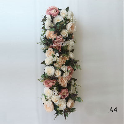 Table Runner Artificial Flower Rose Hydrangea Arrangement A4