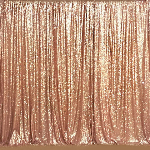 Sequin Panel 5feetx20feet Fabric Backdrop Rose Gold