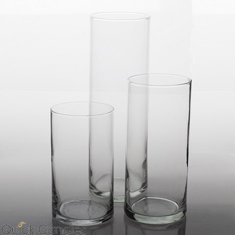 "3/set Cylinder Vase 16""x4""/12""x4""/8""x4"" DIY Wedding Supply - Richview Glass Wedding Supplies"