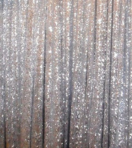 silver sequin panel