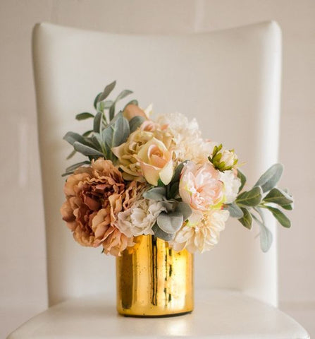 "NEW!! Solid Gold Wedding Centrepiece (5"") Cylinder Glass Vase"