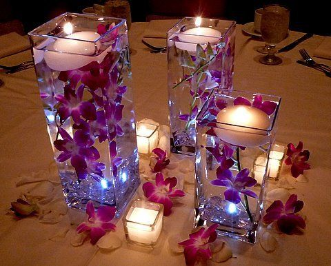 "4""x4""x8"" Cube Square Vase - Richview Glass Wedding Supplies"