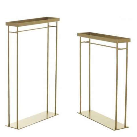 "Long Gold Stand Metal new 7""x20""x39""H"