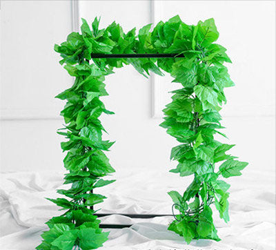 2xGreen vine Artificial leaf Garland wedding greenery - Richview Glass Wedding Supplies