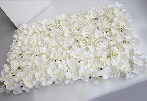 Cream Hydrangea Artificial Flower Hydrangea Mat Wedding Wall Decoration - Richview Glass Wedding Supplies