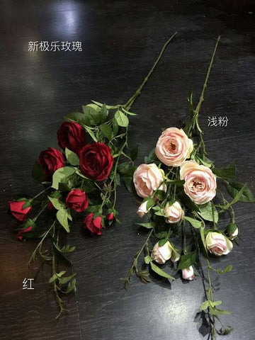 Artificial Rose Spray Bunch HOT SELLER (Red) ROS1-8