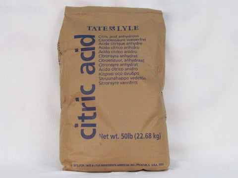 Citric Acid Bulk (50 Pound bag, Pickup Only)