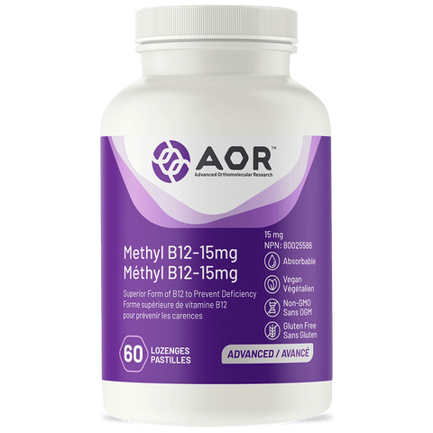 Methyl B12 – 15 mg (formally know as Methylcobalamin Ultra) by AOR