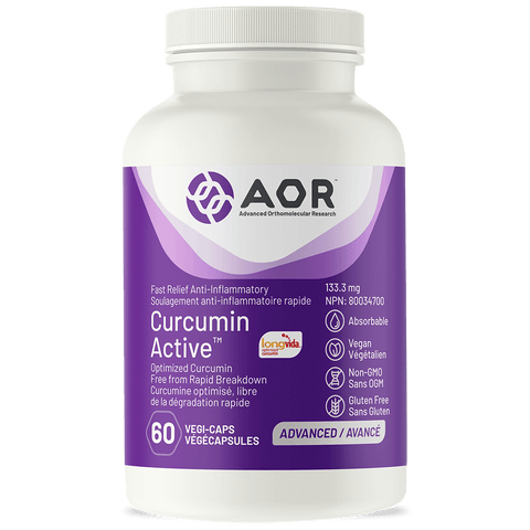 Curcumin Active Fast Relief (60 Vegi-Caps) by AOR