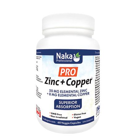 Pro Zinc + Copper by Naka - 60 Capsules